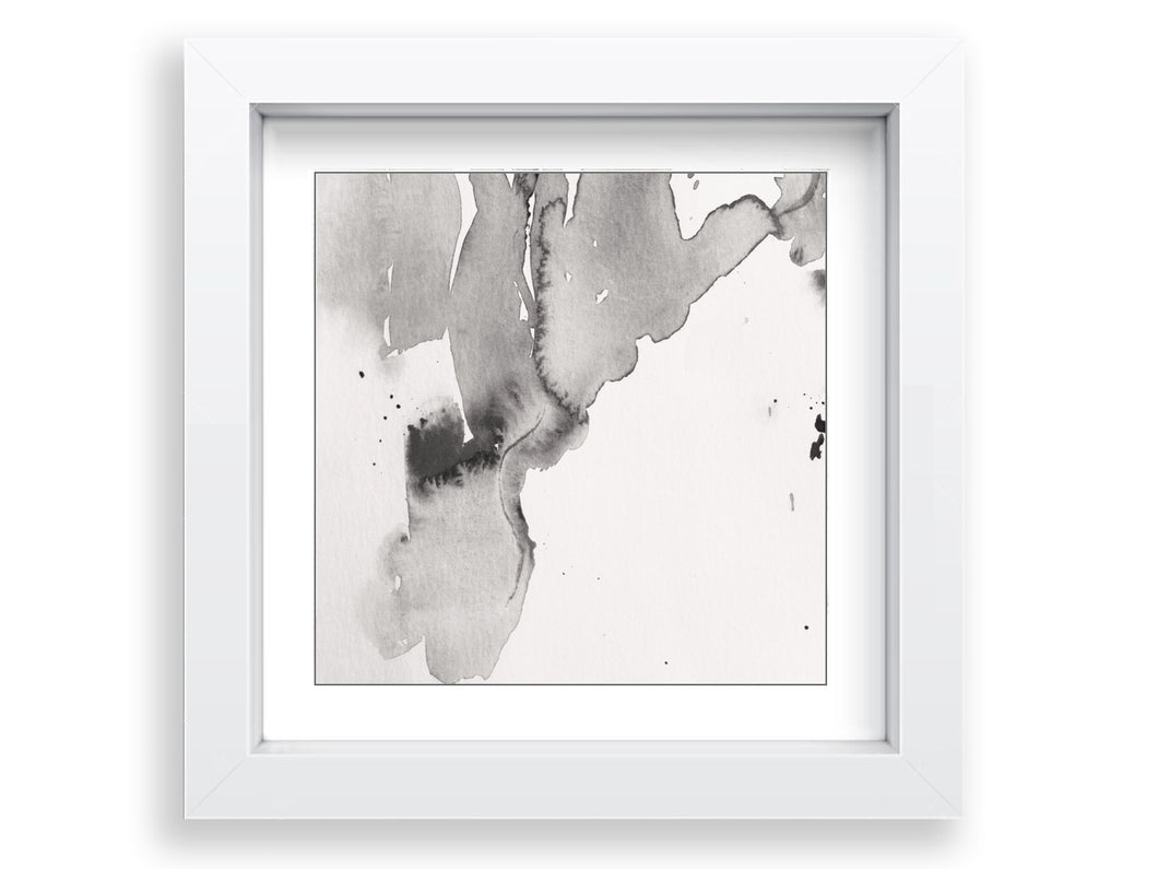 Earths Waterways Square Art Print - Soft Grey