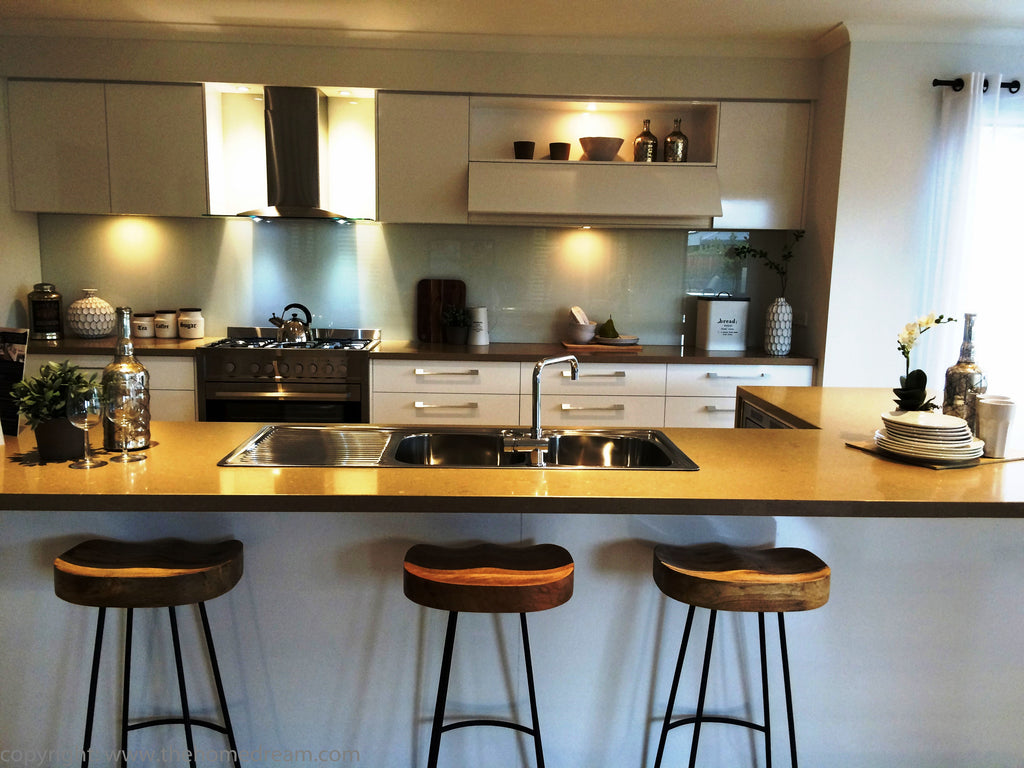 Kitchen benchtop and bar stool