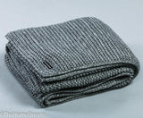 Bernard Garter Knit Charcoal Chunky Wool-Acrylic Throw