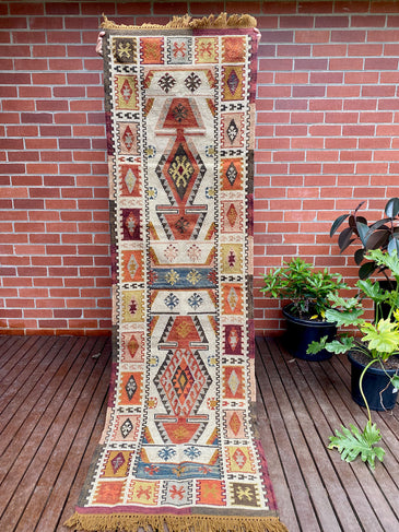 Dakota Handwoven Indian Kilim Runner Rug