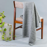 Dana Bubble Knit Chunky Cotton Throw with Lurex-Throws-TheHomeDream