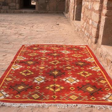 Sahar Handwoven Indian Kilim Rug