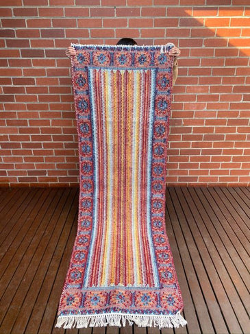 Gaura Handwoven Indian Kilim Runner Rug