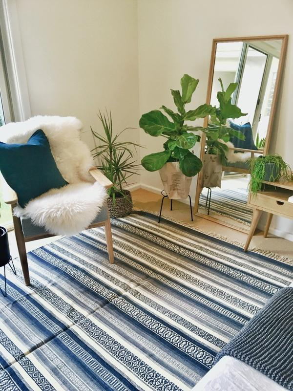 Neela Handwoven Indian Kilim Rug