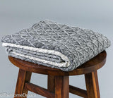 Ruth Diamond Knit Grey Mélange Graded Cotton Throw