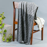 Ruth Diamond Knit Grey Mélange Graded Cotton Throw-Throws-TheHomeDream
