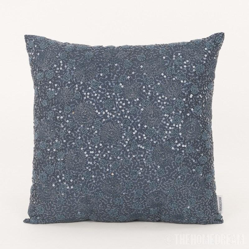 India Handmade Beaded Sequins Cushion Cover