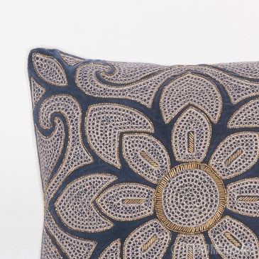 Ira Velvet Handmade Beaded Cushion Cover