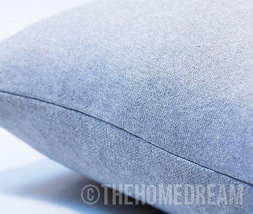 DEER HORN Grey & White Knitted Cotton Square Cushion Cover