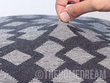 GEOMETRIC Black & Grey Knitted Cotton Square Cushion Cover