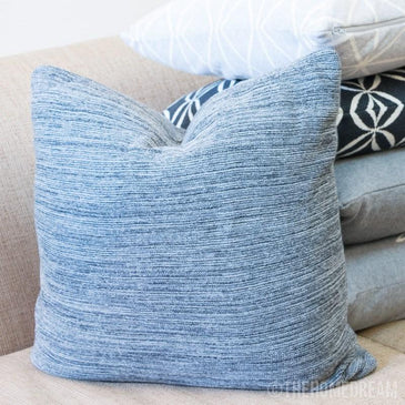 TEXTURED Charcoal Knitted Cotton Square Cushion Cover
