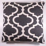 TRELLIS Charcoal & White Knitted Cotton Square Cushion Cover-Pillows-TheHomeDream