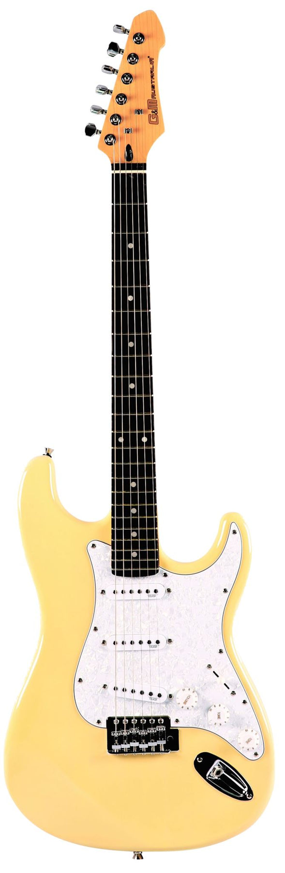 GM ST2 Strat Style Guitar Electric Guitars GM Vintage White