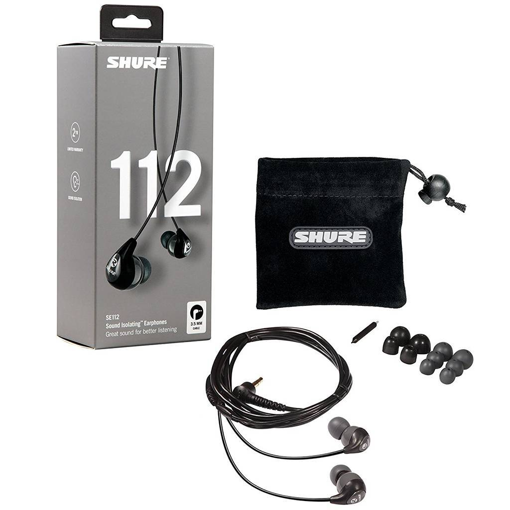 Shure SE112 Sound Isolating Earphones Headphones Shure