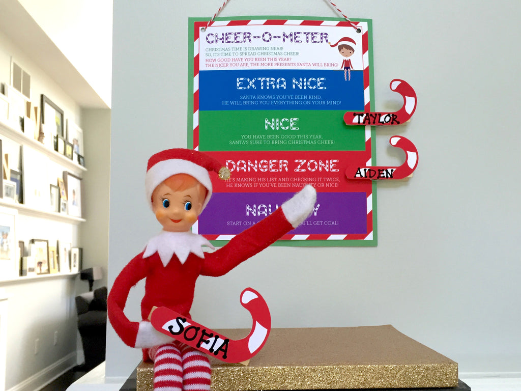 photo regarding Elf on the Shelf Printable titled Elf Expert: Cheer-O-Meter - Naughty or Pleasant Printable through Staff members