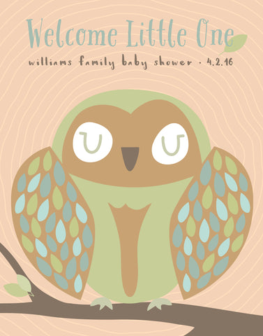 custom owl baby shower guestbook