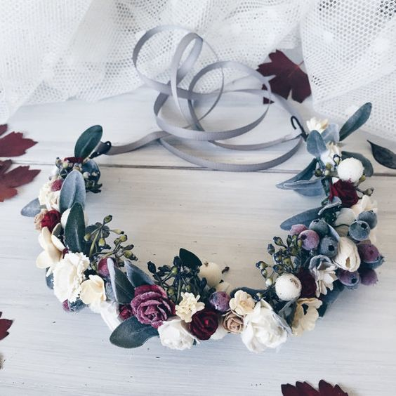 floral winter crown