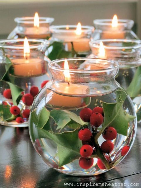 holly centerpieces