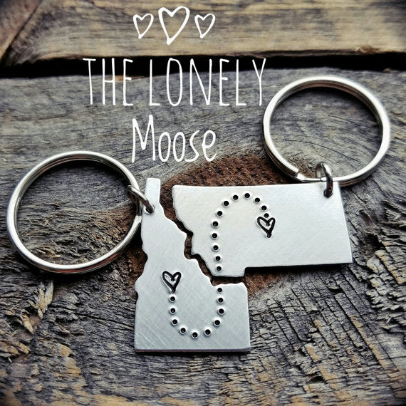 custom love state key chains