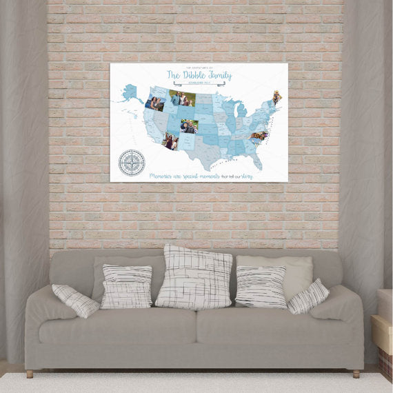 custom photo map decor