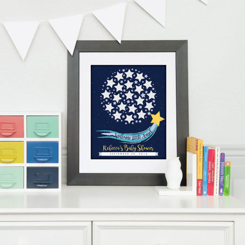 star baby shower guestbook
