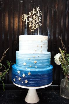 ombre cake baby twinkle little star
