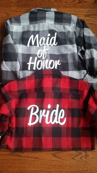 bridal wedding flannel