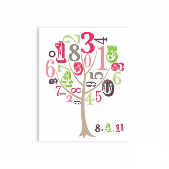 123 Tree Nursery & Kids Art Print