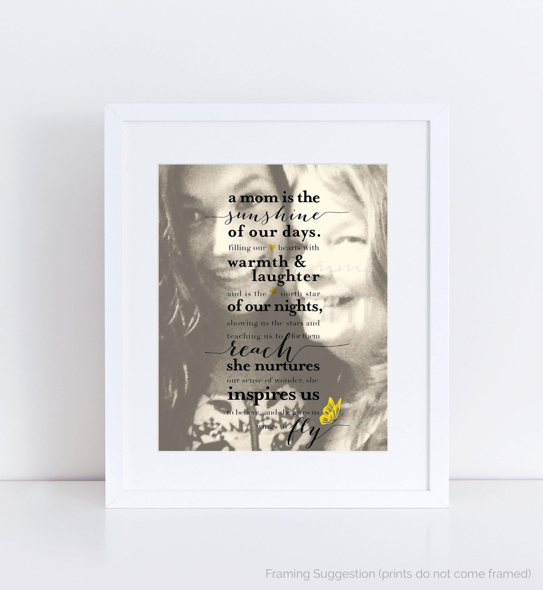 Mother's Sunshine Personalized Photo Quote