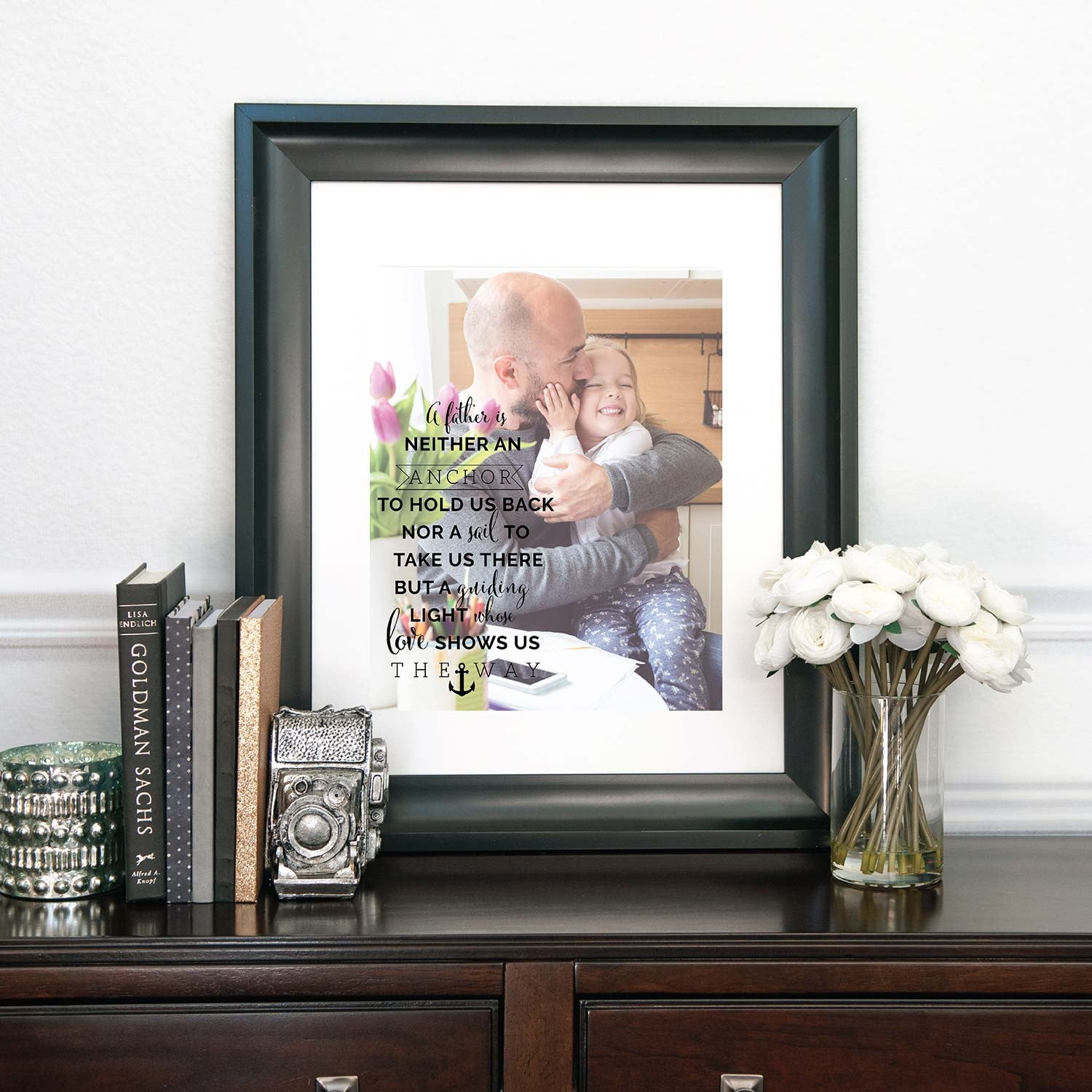 A Father Is... Personalized Photo Quote