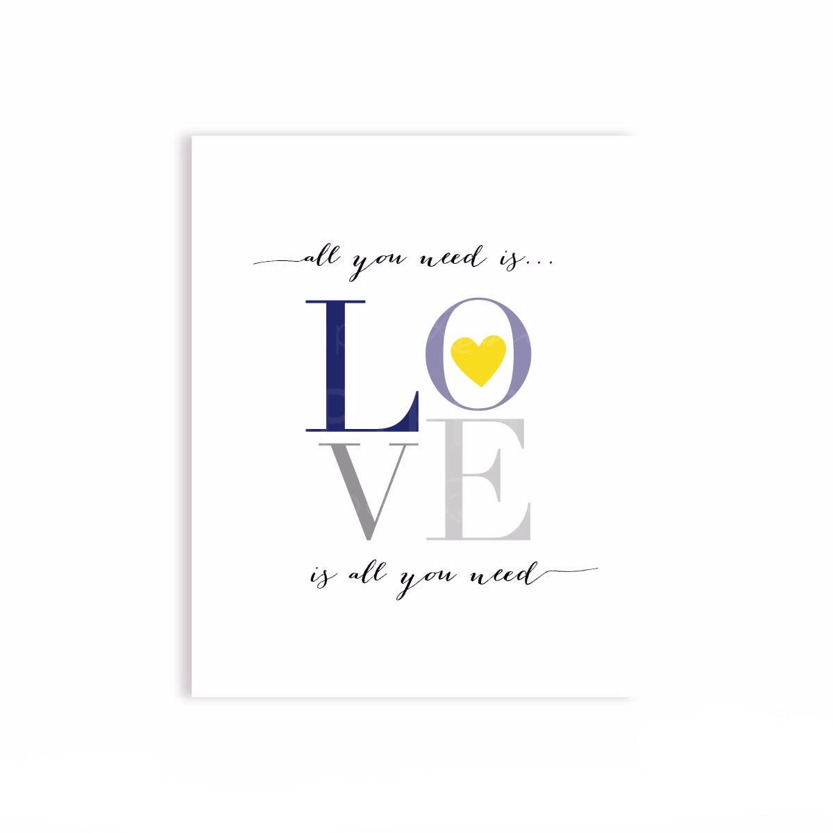 All You Need is Love Lyric Art Nursery & Kids Art Print