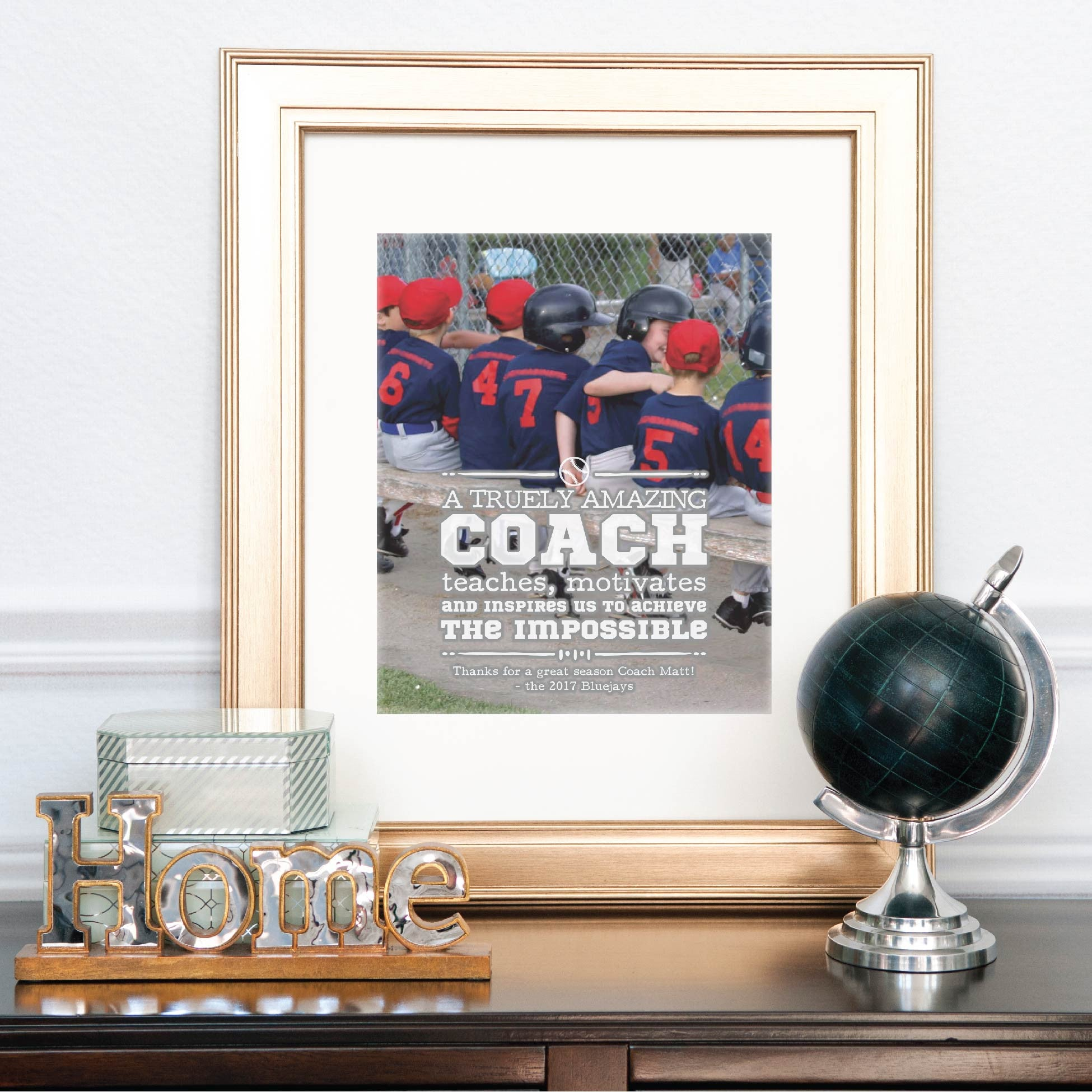 Amazing Coach Personalized Photo Quote