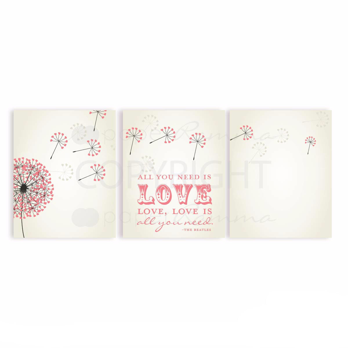 Beatles Nursery Lyrics, All you need is Love Lyric Art, Nursery & Kids Art Print
