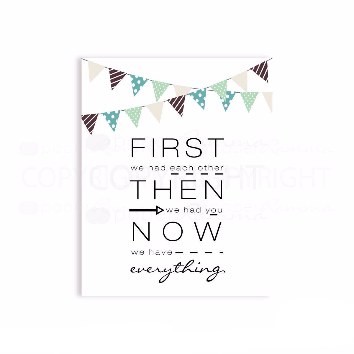 First We Had Quote Nursery & Kids Art Print