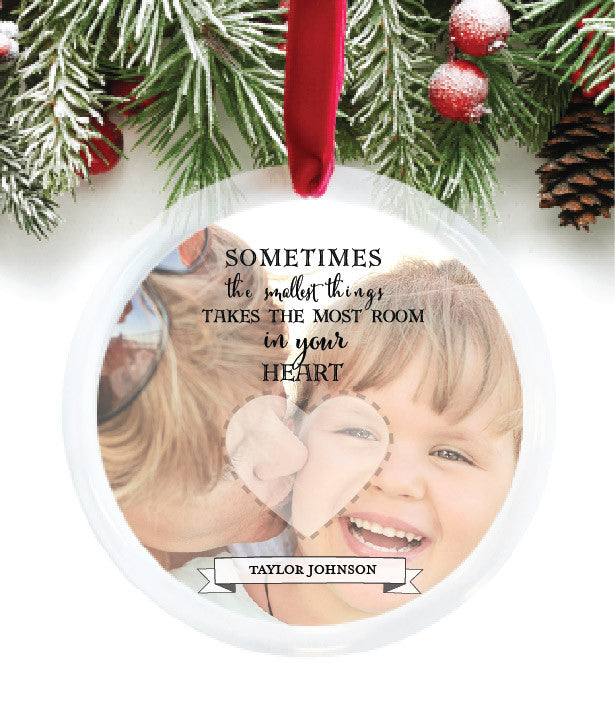 Child Fingerprint Personalized Photo Ornament