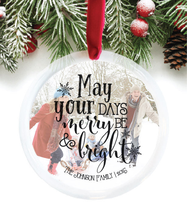 Family Photo Personalized Photo Ornament