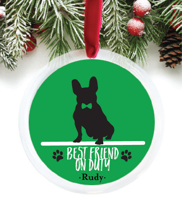 Best Friend on Duty Personalized Ornament