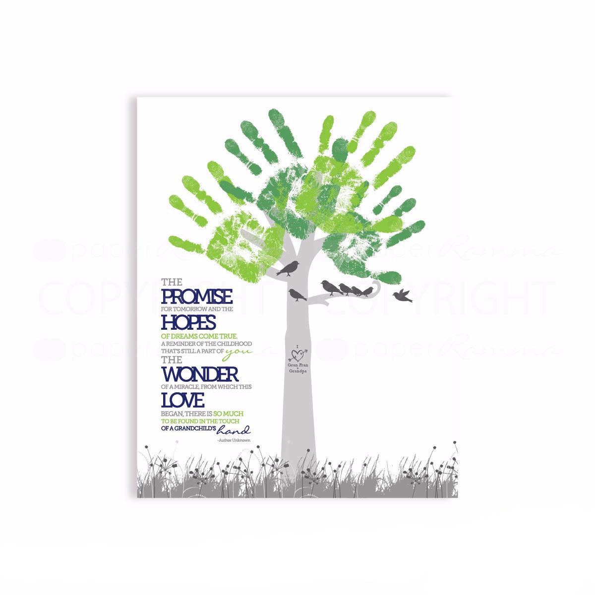Modern Style Handprint Tree Gift</br> <small> <i> Art Print </i> </br> <small> Available in Print or Digital File </small>