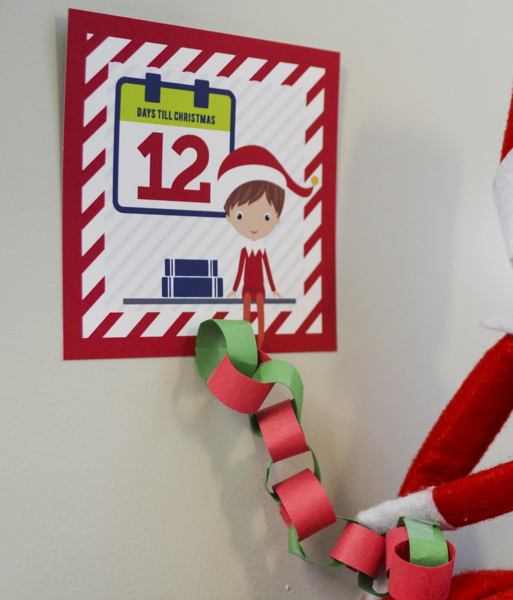 Elf Advent Cards Printable Countdown to Christmas Cards