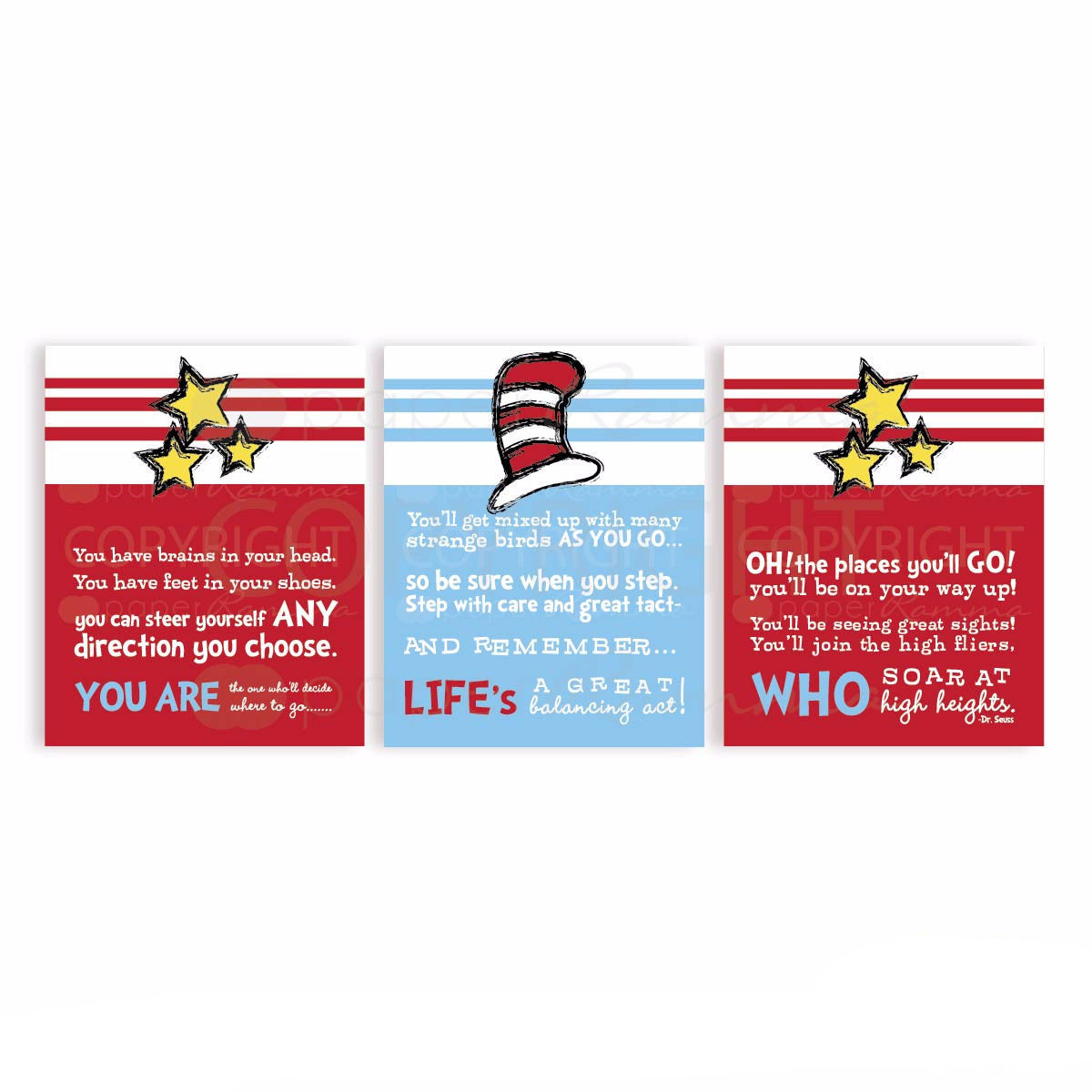 Dr. Seuss Nursery & Kids Art Print Set