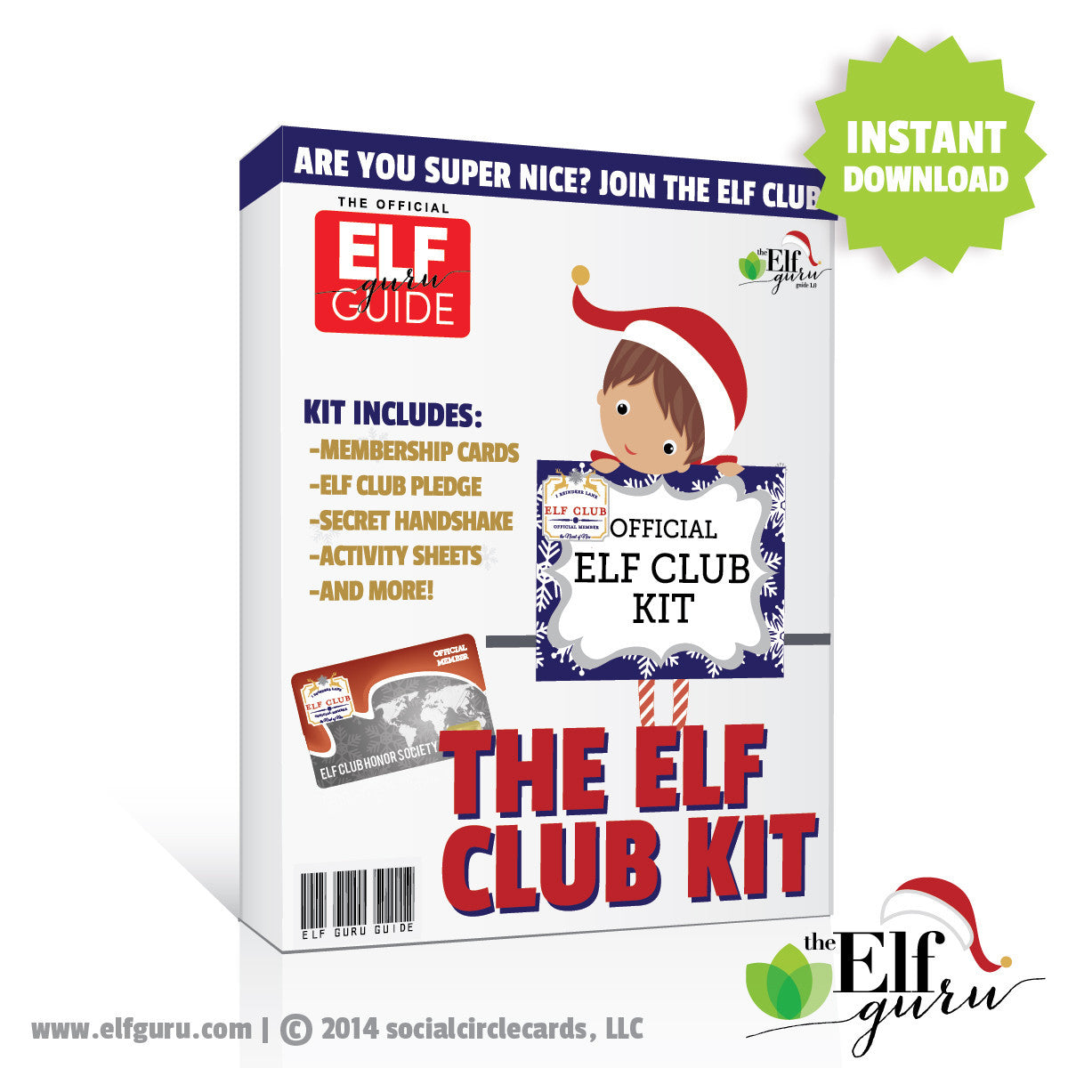 Elf Club Kit</br> <small> <i>  Printable Kit</i> </br> <small> Available in Digital File
