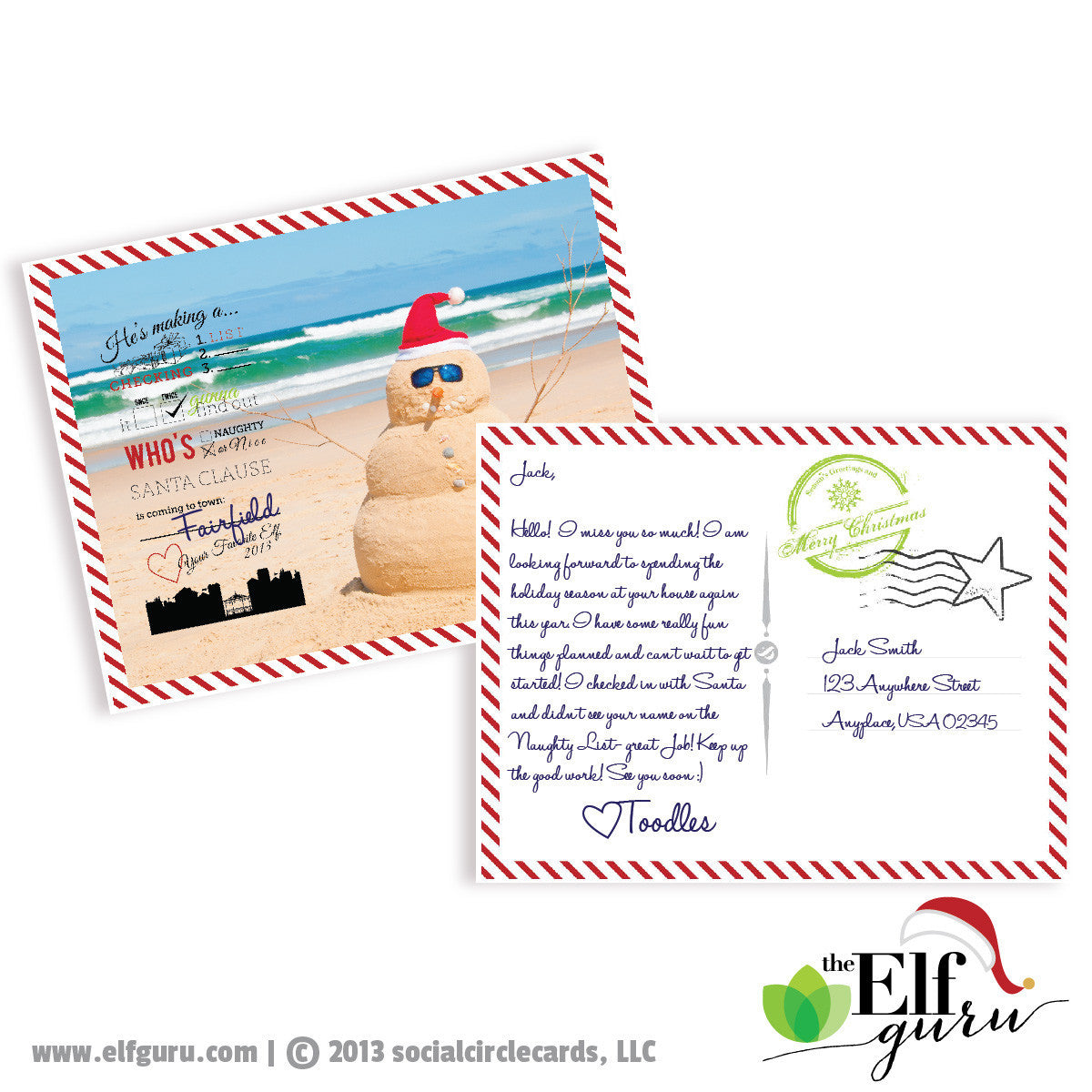 Elf Vacation Postcard