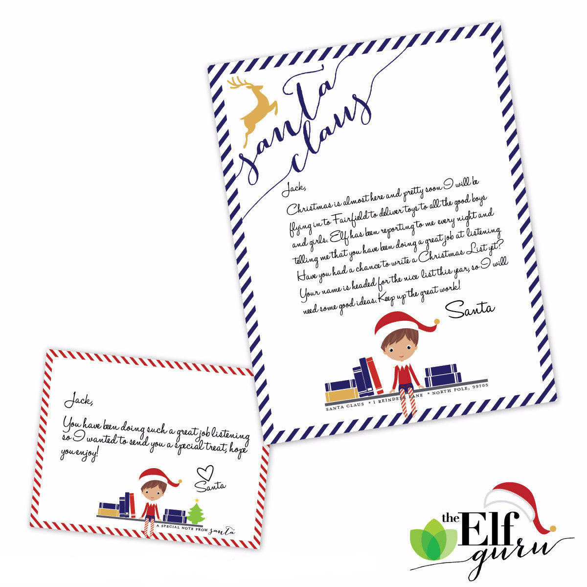 Santa Stationery for Elf
