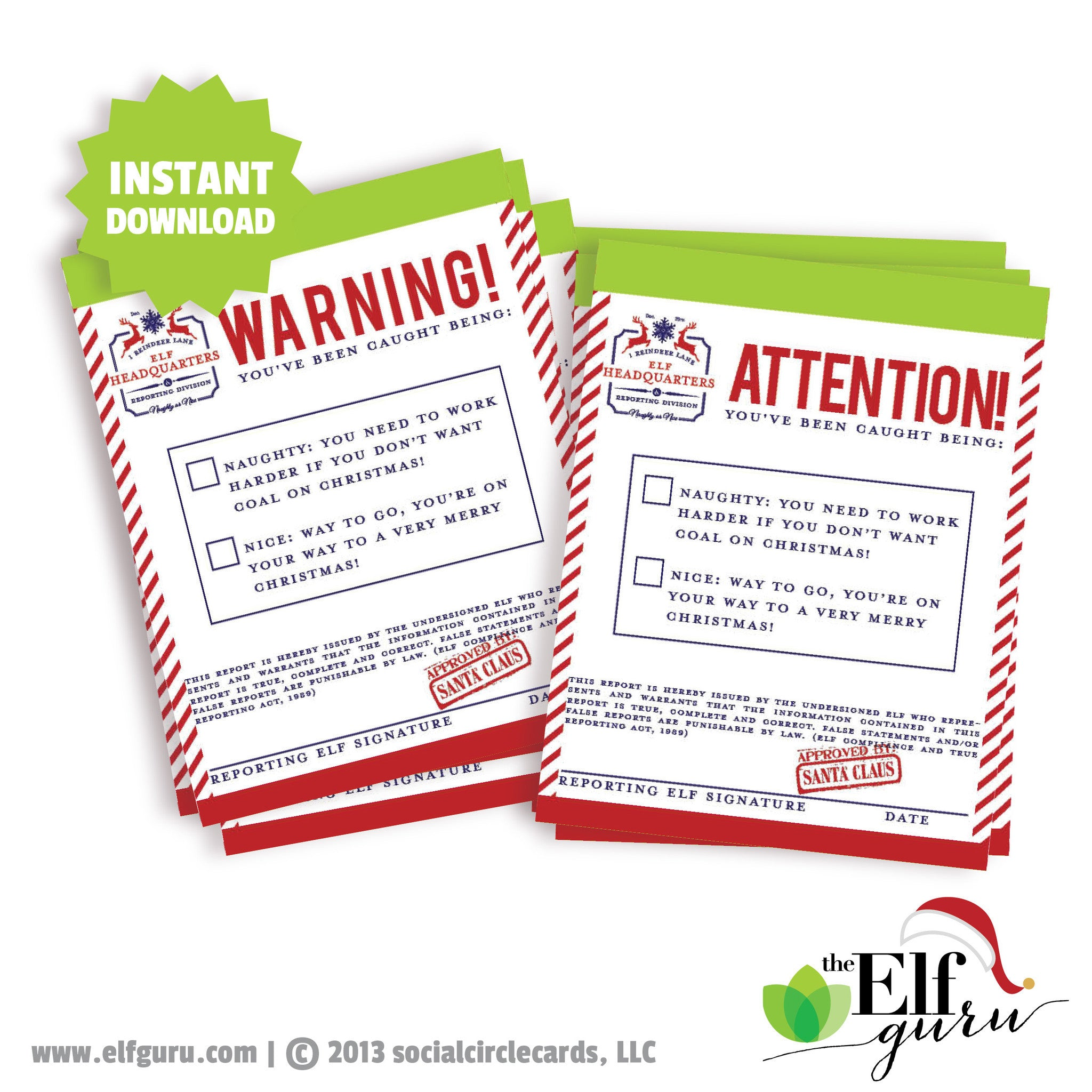 Elf Warning Notices & Attention Notices