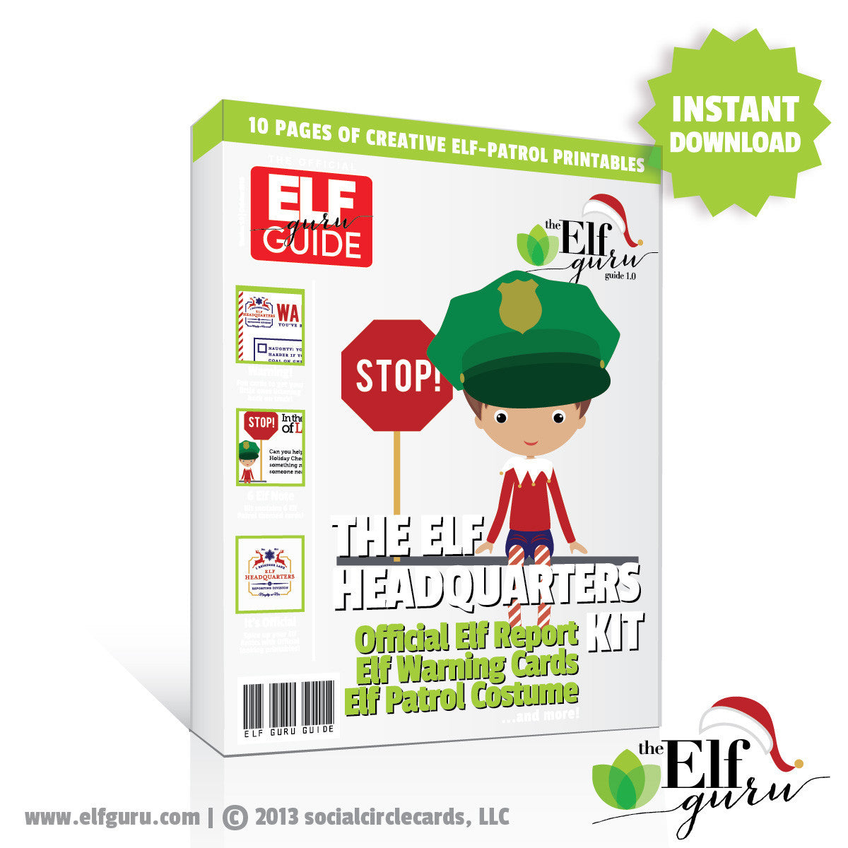 Printable Elf Kit Elf Headquarters Kit