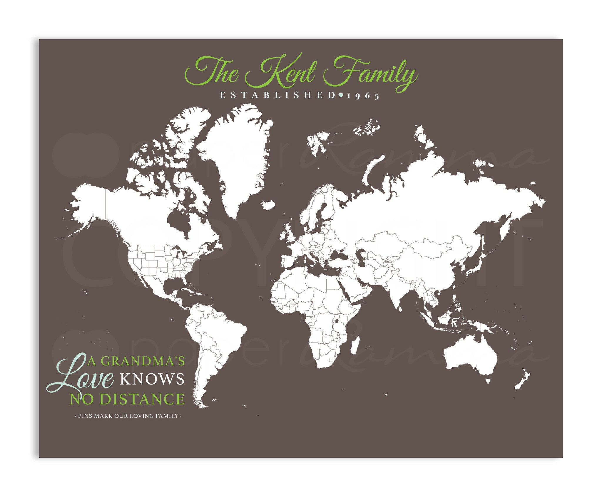 Grandparent Travel Map