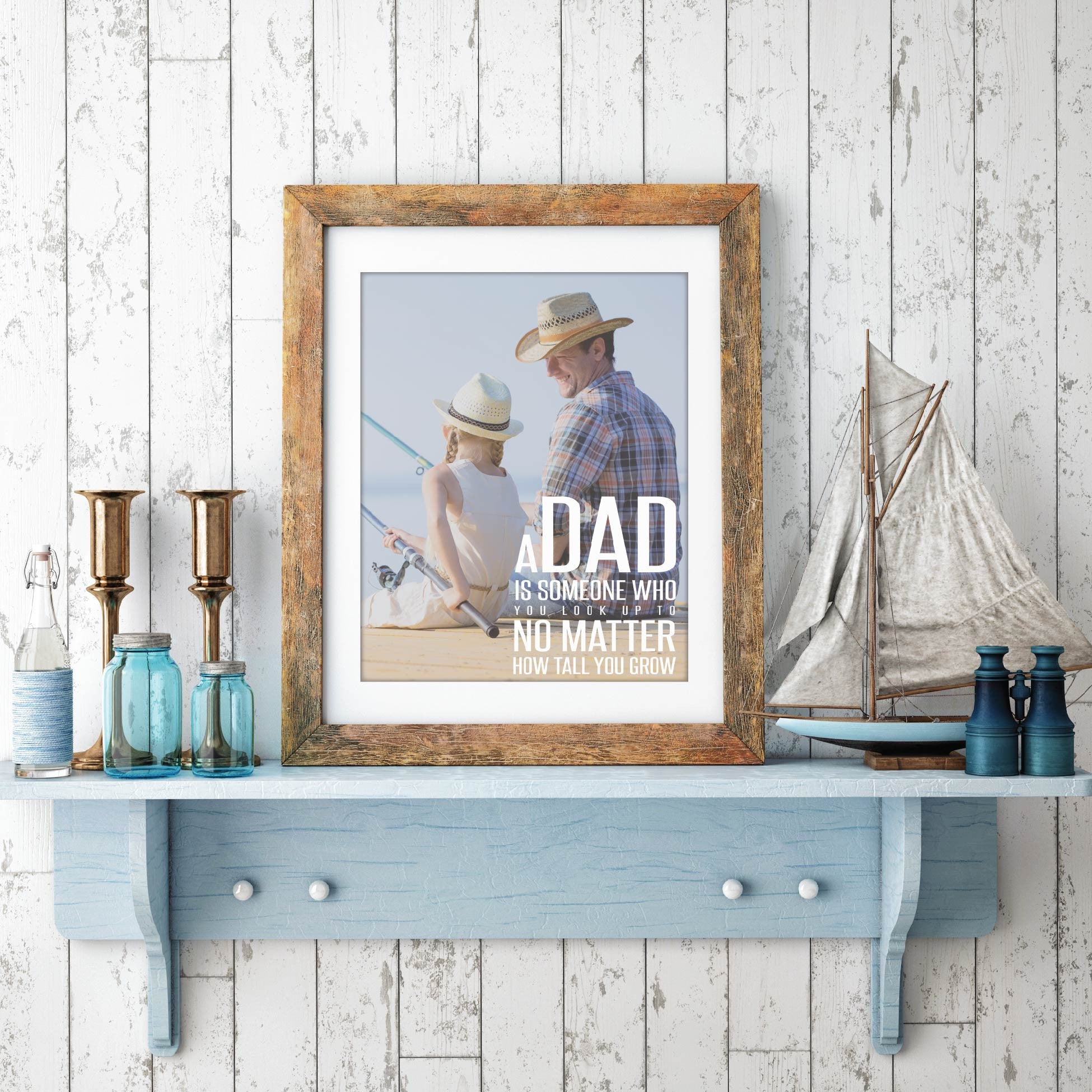 Personalized Dad Photo Quote