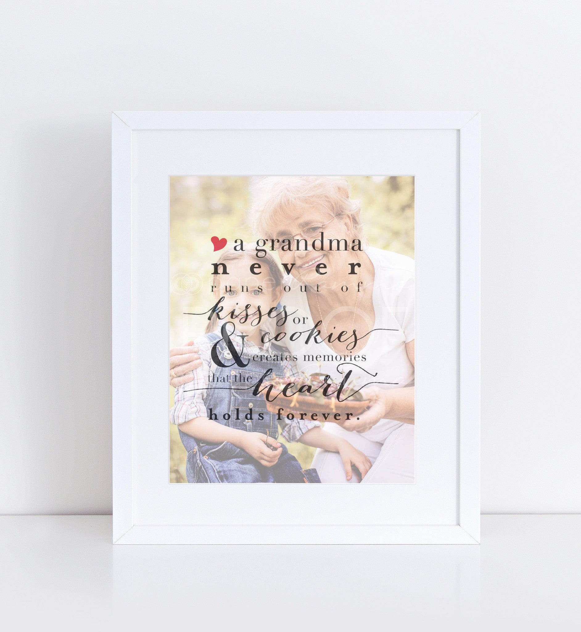 Grandma's Kisses & Cookies Personalized Photo Quote
