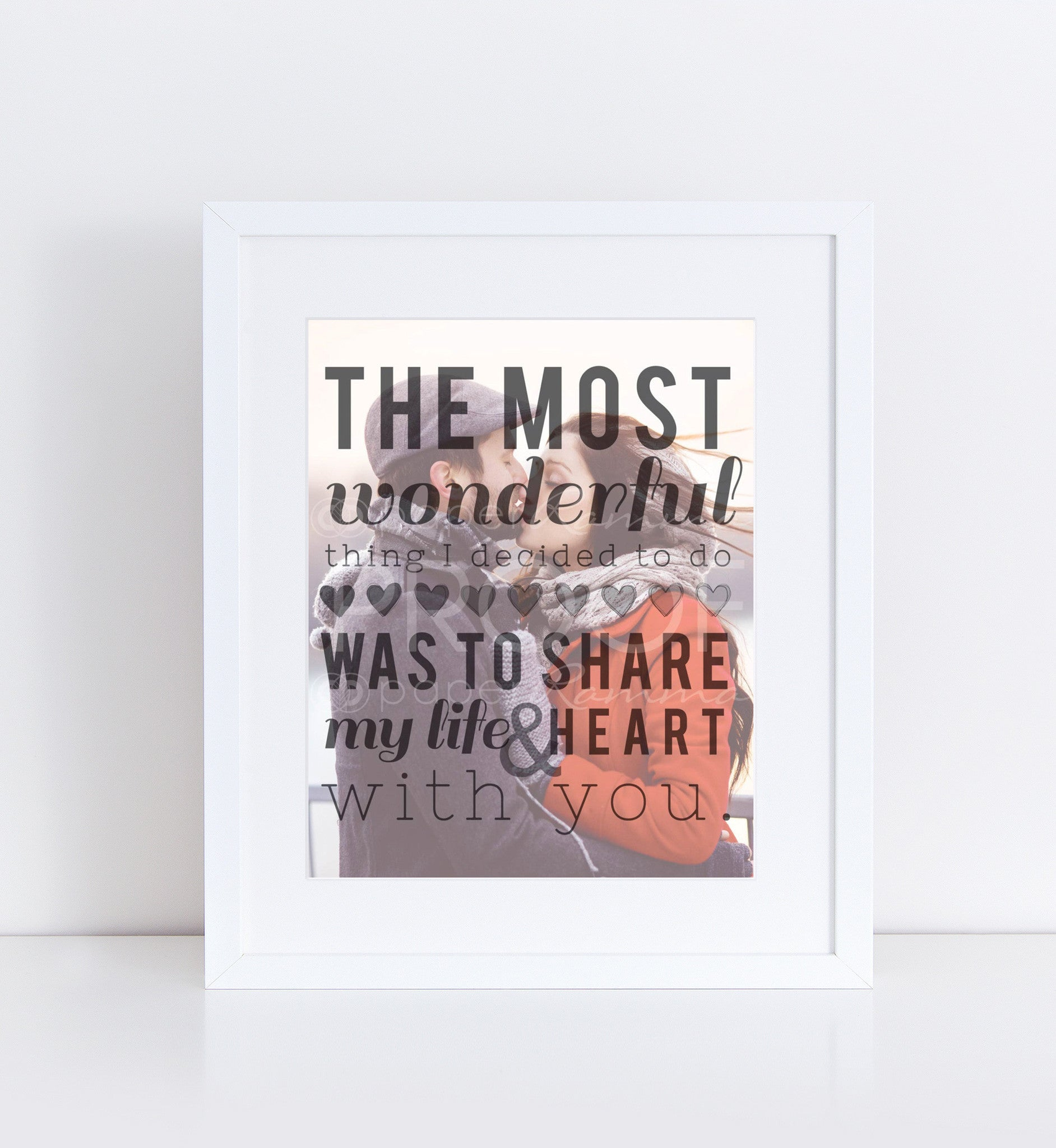 The Most Wonderful Thing Personalized Photo Quote
