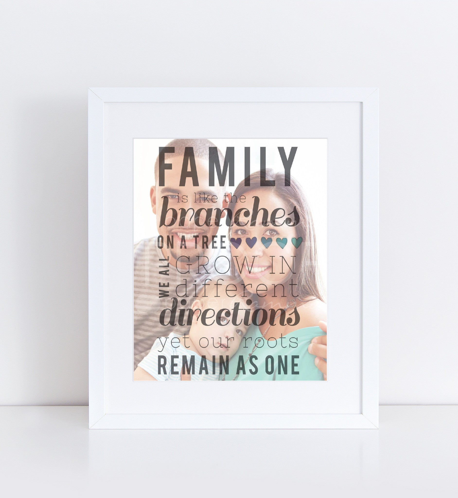 Branches on a Tree Family Quote</br> <small> <i/>Photo Quote Print</i> </br> <small>available in 8x10 - 18x24